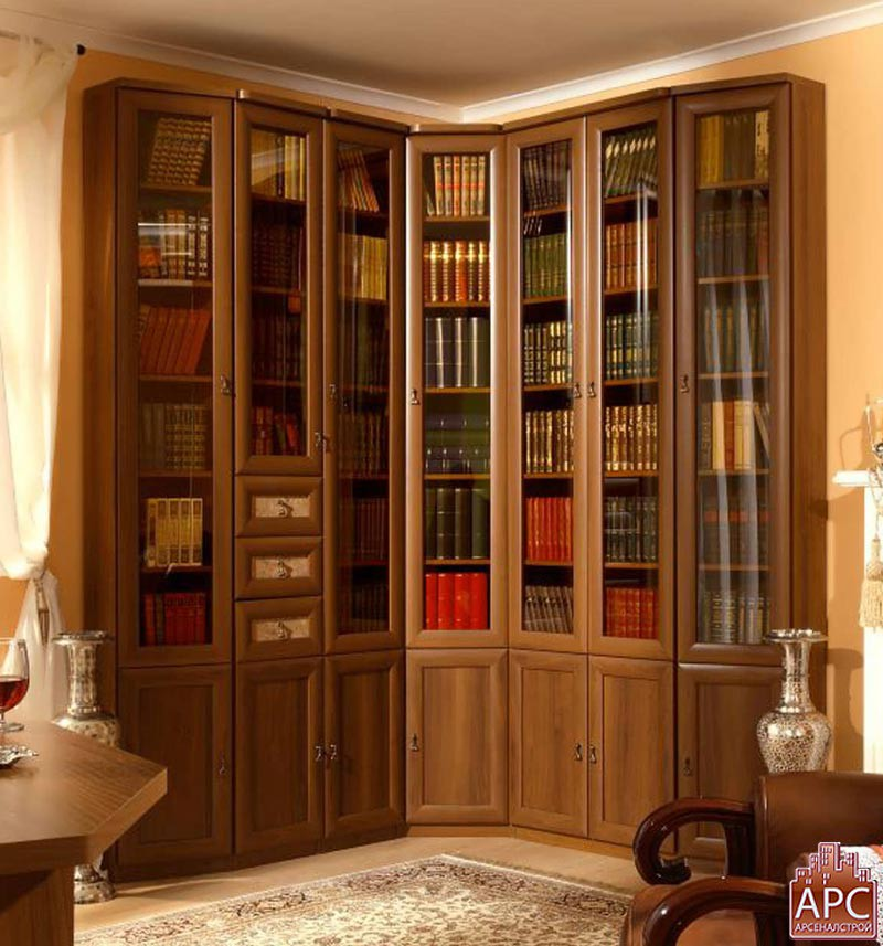 Фото каталог библиотек, книжных шкафов и книжных стеллажей и.