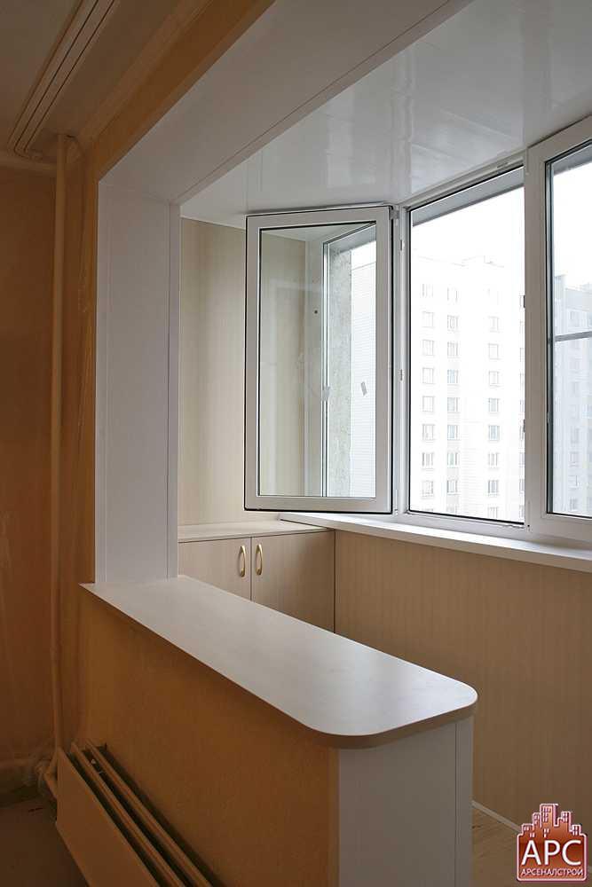 Присоединение балкона без демонтажа подоконного блока п44..