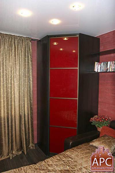 Дизайн угловых шкафов для маленьких комнат