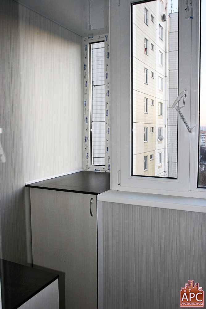 Обшивка лоджии балкона в доме п-44т..