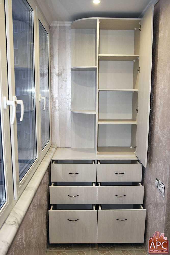 Шкаф на лоджию: особенности конструкции, основные размеры, и.